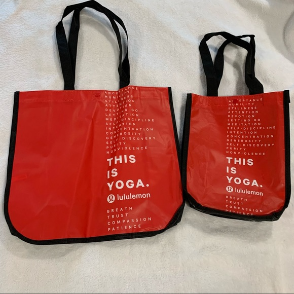 Lululemon Reusable Bags Set Large Small